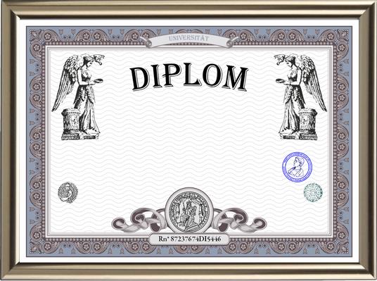 Blanko Diplom im hochwertigen Design, zum Selbstgestalten - BL-158
