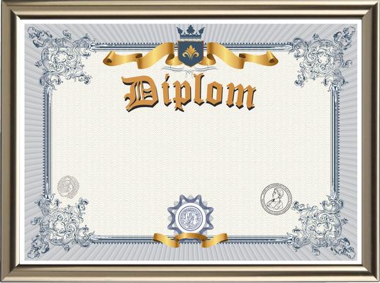 Blanko Diplom - Premium deluxe, im hochwertigen Design, zum Selbstgestalten - BL-159