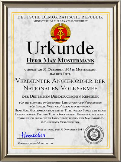 DDR - Verdienter Angehöriger der Nationalen Volksarmee - UK-1205