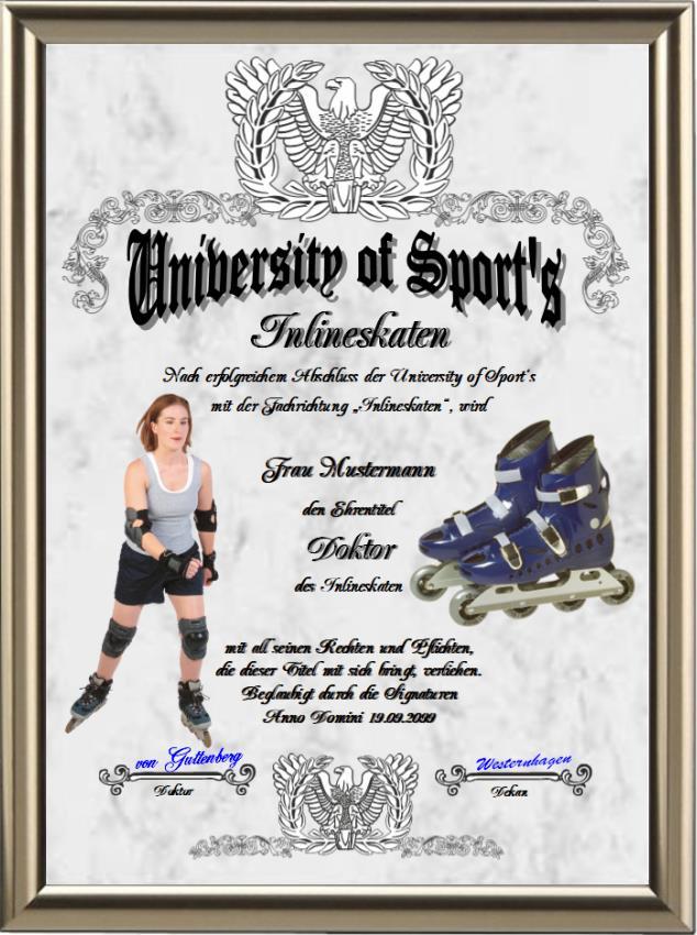 Doktortitel für Inlineskater - UK-123