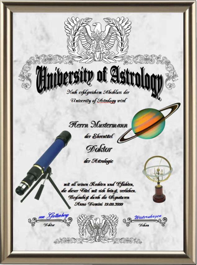 Doktortitel für Astrologen - UK-137