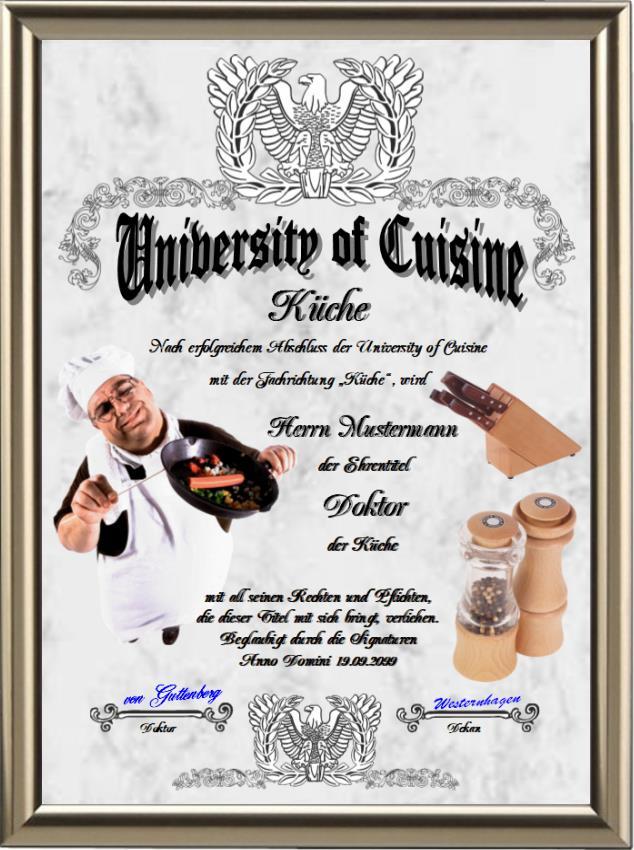 Doktortitel der Küche - UK-139