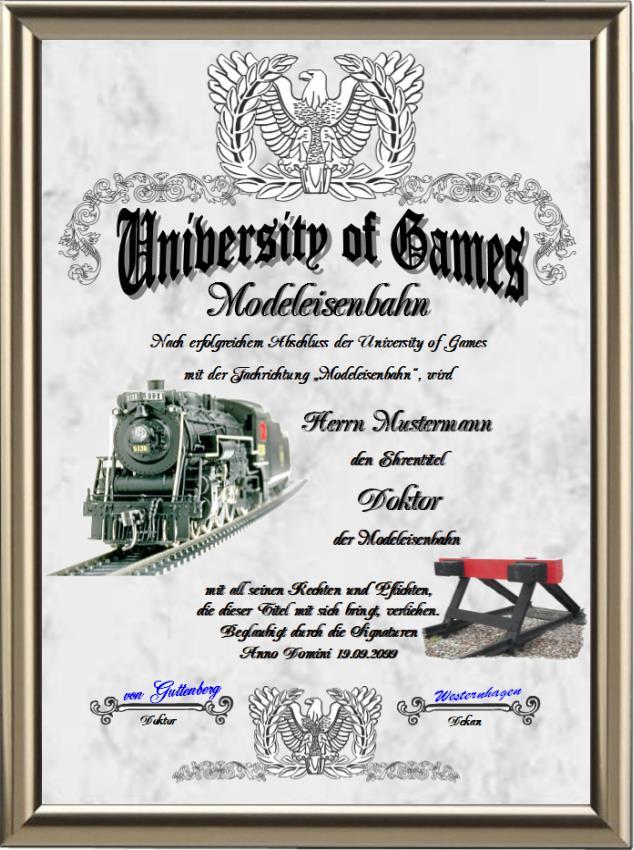 Doktortitel für Modeleisenbahn-Fans - UK-140