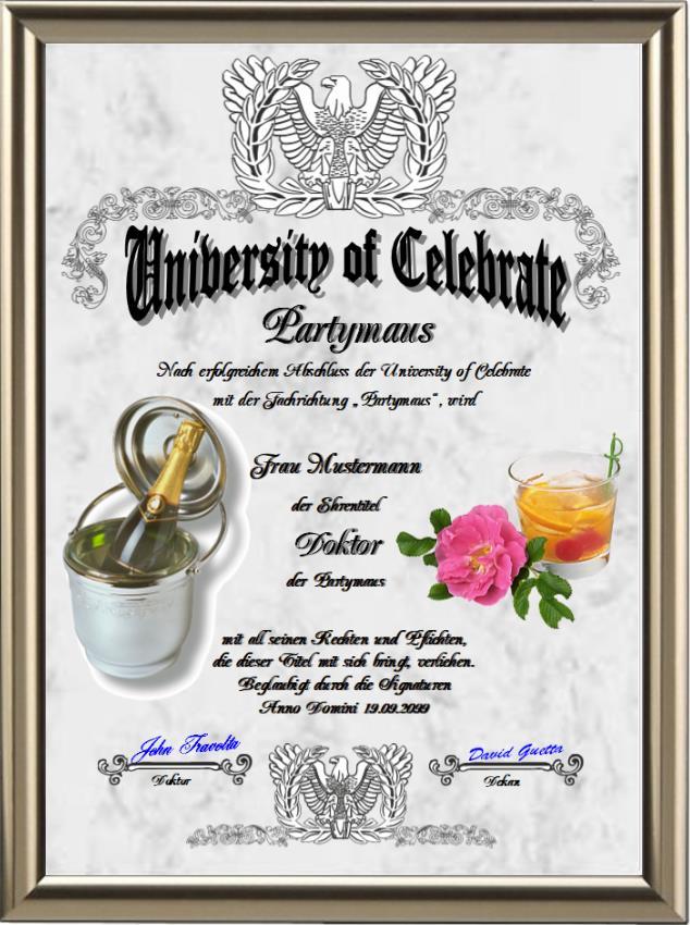 Doktortitel für eine Partymaus - UK-238