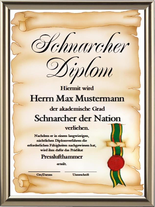Schnarcher-Diplom - UK-259