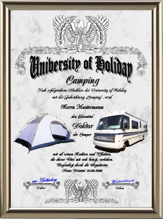 Doktortitel für Camper - UK-278