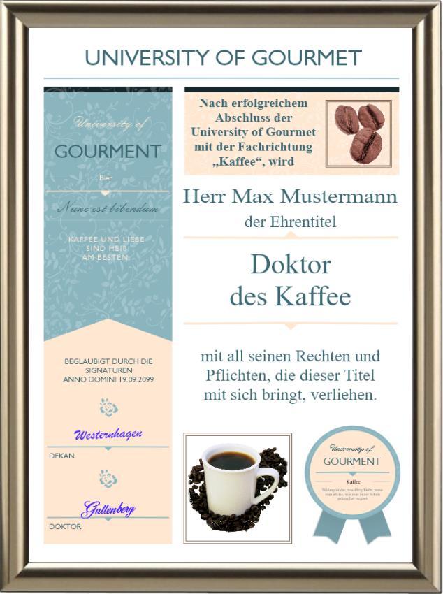 Doktortitel für Kaffee-Trinker - Modern - UK-526