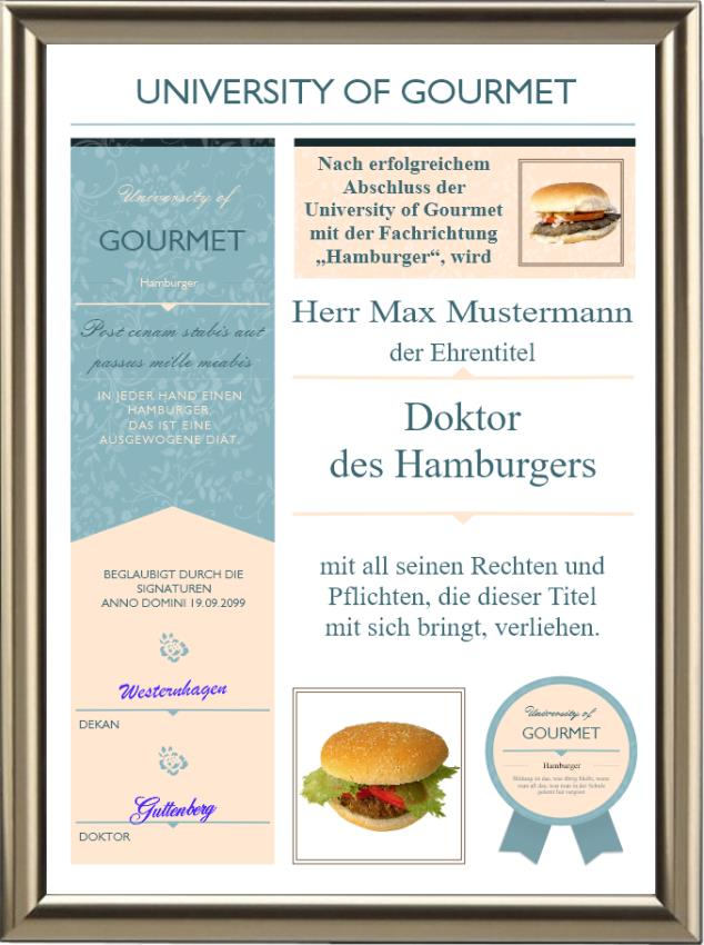 Doktortitel für Hamburger-Liebhaber- Modern - UK-529