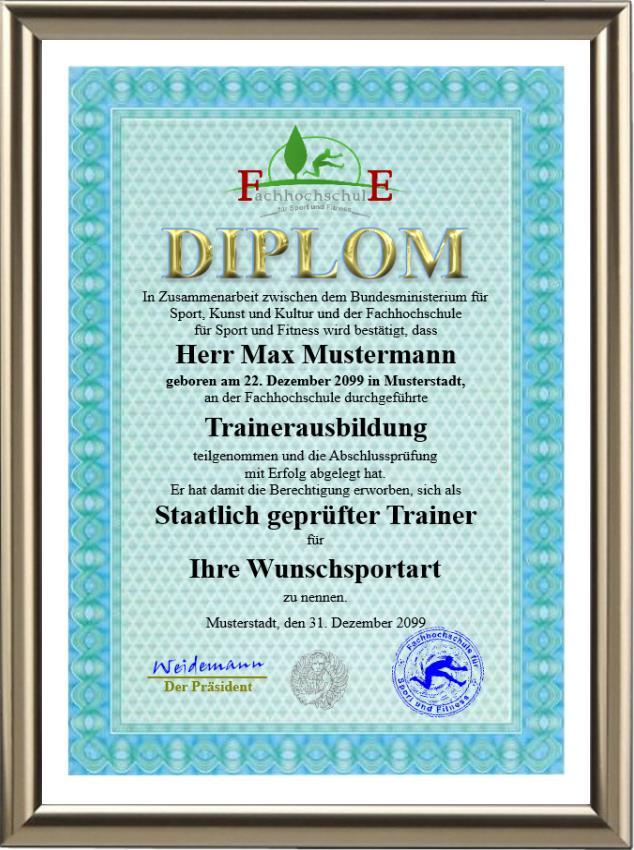 Premium Trainer-Diplom - UK-599