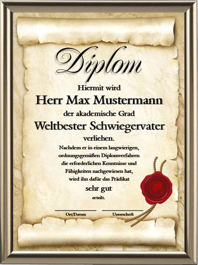 Diplom - Weltbester Schwiegervater - UK-614