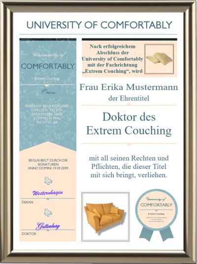 Doktortitel fürs Extrem Couching - Modern - UK-644