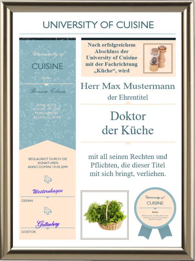 Doktortitel der Küche - Modern - UK-658