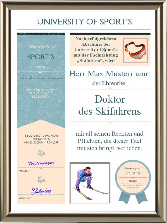 Doktortitel fürs Skifahren - UK-761